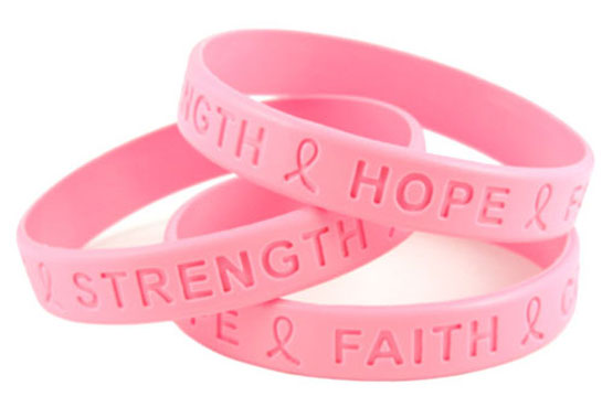 Silicone bracelet with engraving
