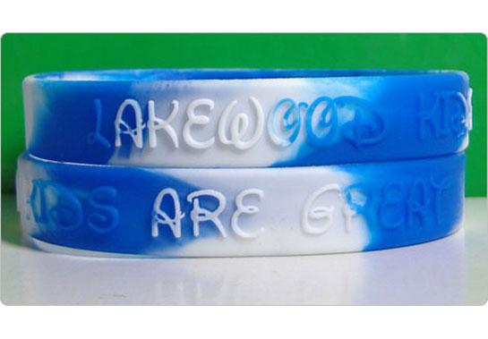 Silicone bracelet, 2 colors