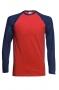 Divkrāsu beisbola T krekls ar garām piedurknēm