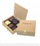 Šokolādes konfektes koka kastītē ar logo